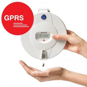 Careousel Advance GPRS automatic pill dispenser. With SMS and email alert messaging.
