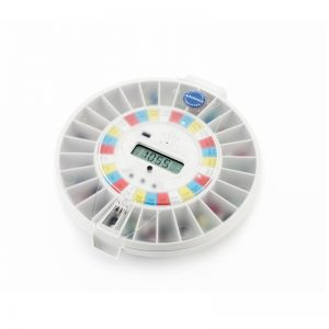 Careousel automatic pill dispensers clear transparent lid